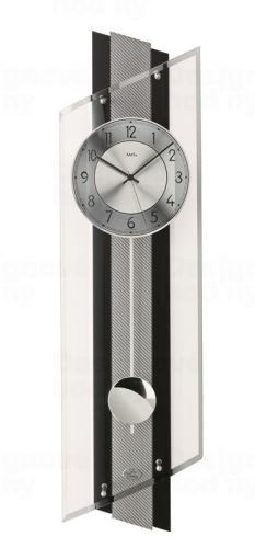 Kyvadlové nástenné hodiny 5219 AMS riadené rádiovým signálom 84cm