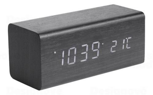 Dizajnový LED budík - hodiny 5652BK Karlsson 16cm