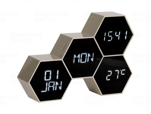Digitálne nástenné / stolové hodiny KA5805GD Karlsson 18cm