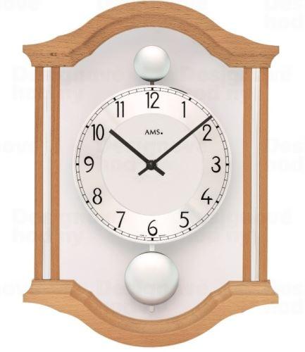 Kyvadlové nástenné hodiny 7447/18 AMS 34cm