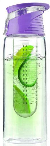 ASOBO dizajnová fresh fľašu s Infuser Flavour It fialová 600ml