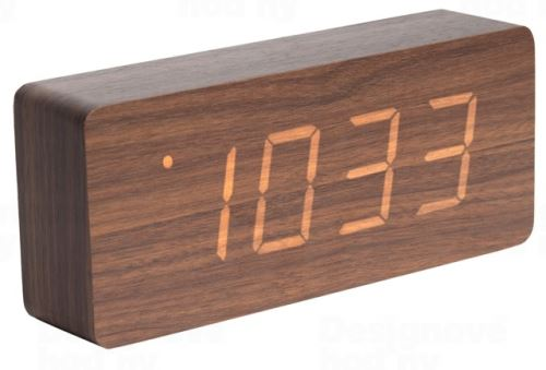 Dizajnový LED budík - hodiny 5654DW Karlsson 21cm