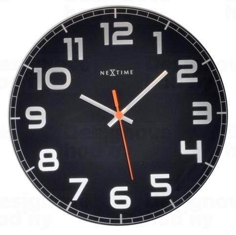 Dizajnové nástenné hodiny 8817zw Nextime Classy round 30cm