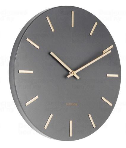 Dizajnové nástenné hodiny 5821GY Karlsson 30cm
