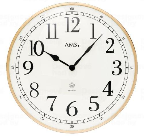 Nástenné hodiny 5607 AMS riadené rádiovým signálom 40cm