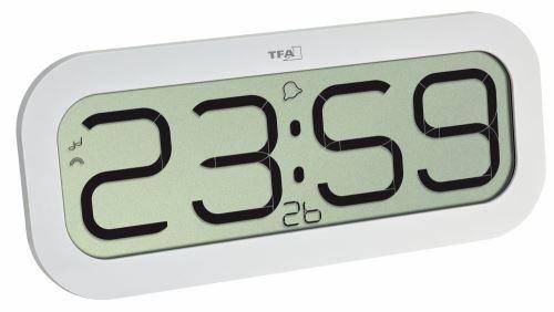 Rádiovo riadené hodiny s melódiou TFA 60.4514.02 bimbajú bielej