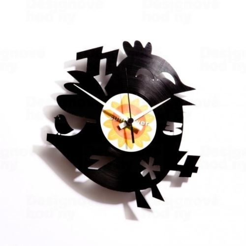 Dizajnové nástenné hodiny Discoclock 012 Twitter 's dumb brother 30cm