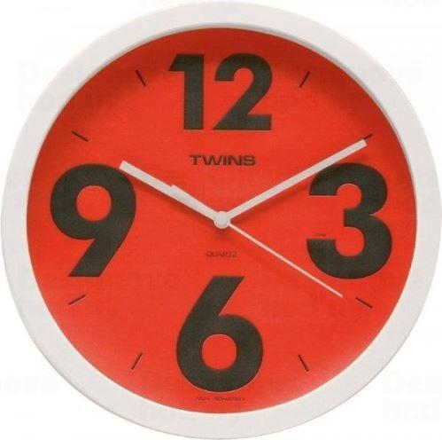 Nástenné hodiny Twins 903 red 26cm