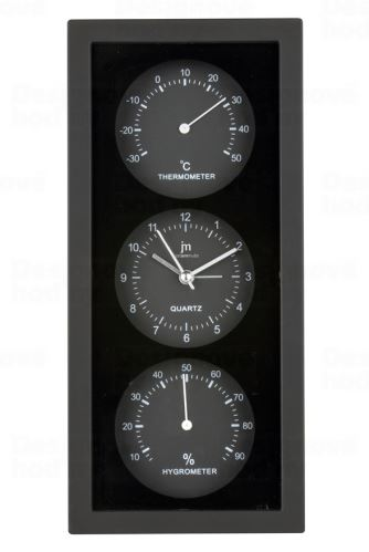 Nástenné-stolové hodiny s teplomerom a vlhkomerom JA7071N Lowell 26cm