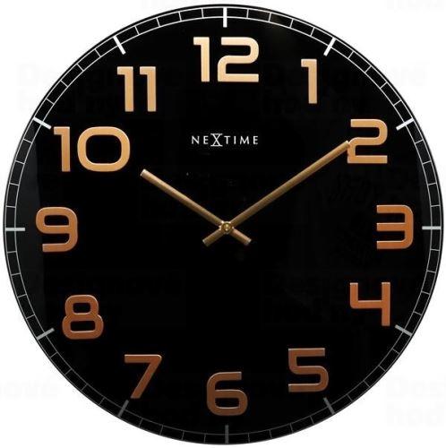 Dizajnové nástenné hodiny 8817bc Nextime Classy round 30cm