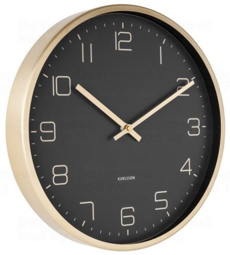 Dizajnové nástenné hodiny 5720BK Karlsson 30cm