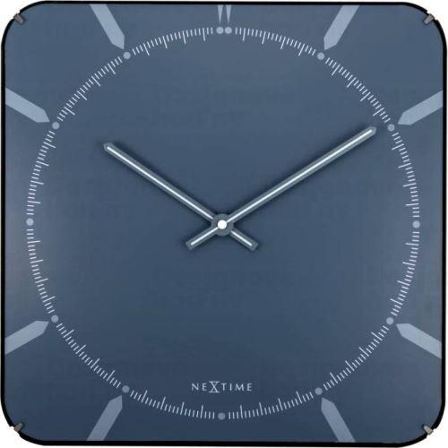 Dizajnové nástenné hodiny 3172 Nextime Michael Dome Blue 35cm
