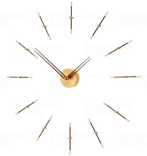 Dizajnové nástenné hodiny Nomon Merlin Gold Small 70cm