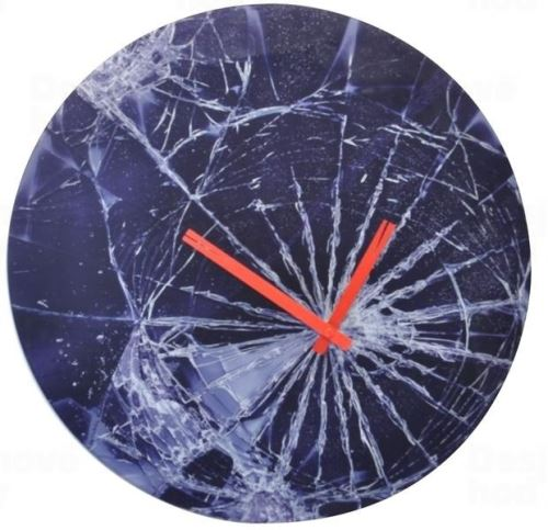 Dizajnové nástenné hodiny 8147 Nextime Crash 43cm
