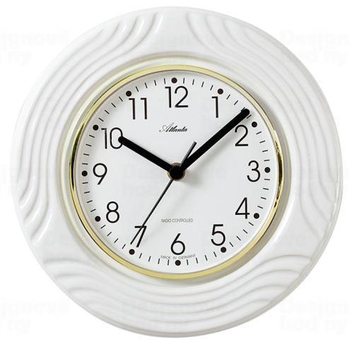 Dizajnové nástenné keramické hodiny AT6020 riadené signálom DCF