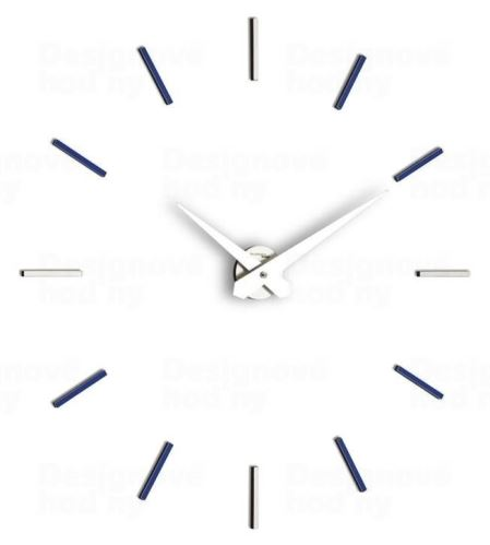 Dizajnové nástenné hodiny I200MBL blue IncantesimoDesign 90-100cm