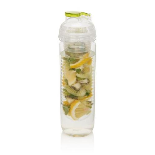 Loooqs, 500 ml fľašu s košíkom na ovocie, zelená