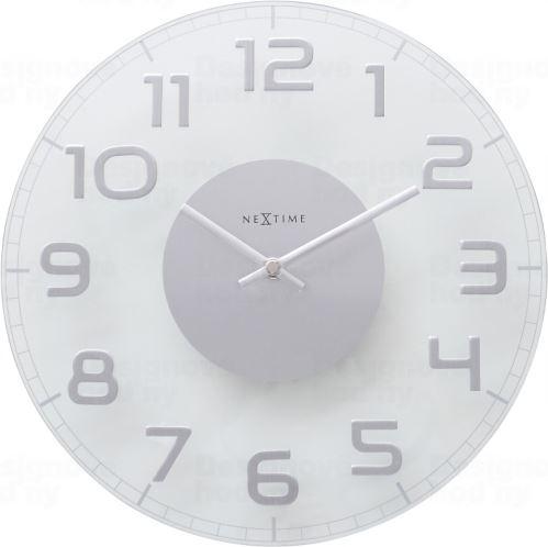 Dizajnové nástenné hodiny 8817tr Nextime Classy round 30cm