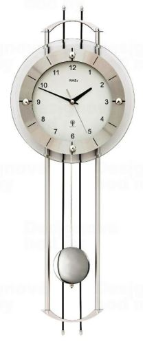 Luxusné kyvadlové nástenné hodiny 5248 AMS riadené rádiovým signálom 68cm