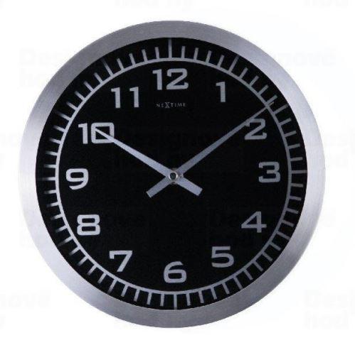 Dizajnové nástenné hodiny 2954 Nextime Blacky 45cm