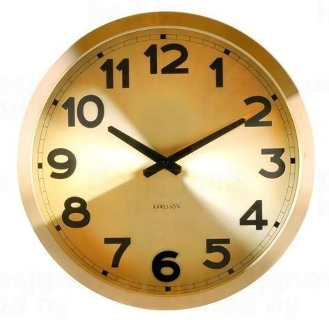 Dizajnové nástenné hodiny 5408GO Karlsson 40cm
