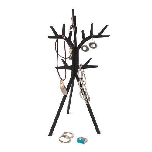 Stojan na šperky Balvu Tree, čierny