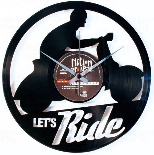 Dizajnové nástenné hodiny Discoclock 101 Let 'ride 30cm