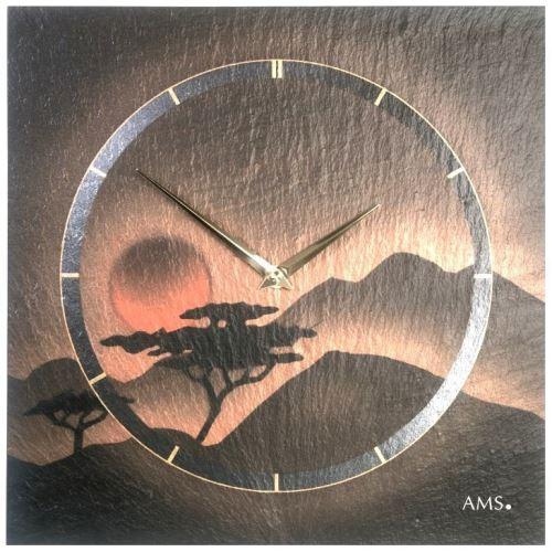 Dizajnové nástenné bridlicové hodiny 9515 AMS 30cm