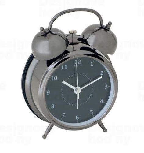 Dizajnový budík 5111zw Nextime Wake Up 12cm