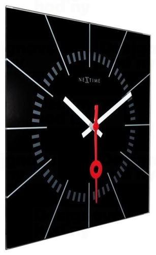 Dizajnové nástenné hodiny 8636zw Nextime Stazione 35cm