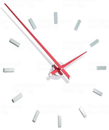 Dizajnové nástenné hodiny Nomon Taçon 12L red 100cm