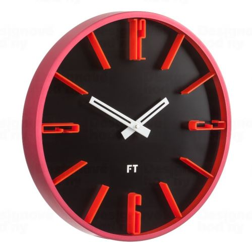 Dizajnové nástenné hodiny Future Time FT6010BK Numbers 30cm