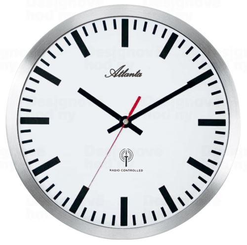 Dizajnové nástenné hodiny AT4371-B riadené signálom DCF 30cm