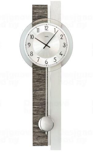 Kyvadlové nástenné hodiny 7439 AMS 67cm