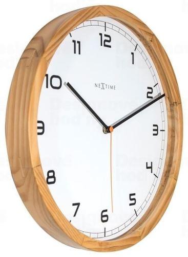Dizajnové nástenné hodiny 3154 Nextime Company Wood 35cm