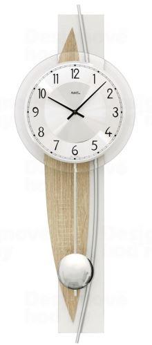 Dizajnové nástenné kyvadlové hodiny 7455 AMS 67cm