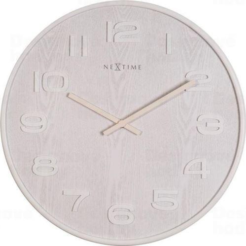 Dizajnové nástenné hodiny 3095wi Nextime Wood Wood Big 53cm
