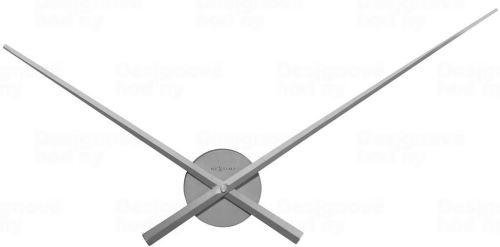 Dizajnové nástenné hodiny 3118zi Nextime Hands strieborné 70cm