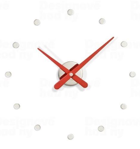 Dizajnové nástenné hodiny Nomon Rodoñá Mini red 50cm