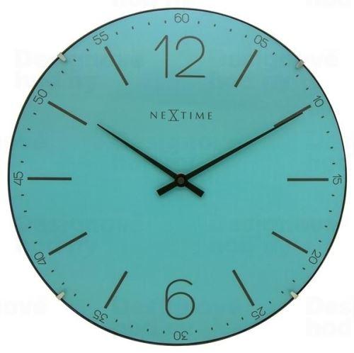 Dizajnové nástenné hodiny 3159tq Nextime Index Dome 35cm