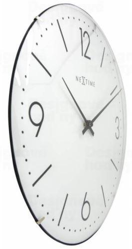 Dizajnové nástenné hodiny 3157wi Nextime Basic Dome 35cm