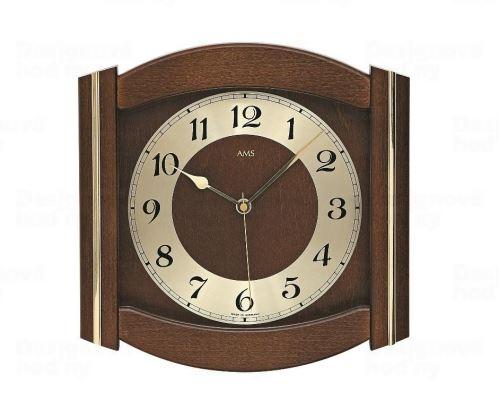 Nástenné hodiny 5822/1 AMS riadené rádiovým signálom 27cm