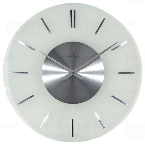 Dizajnové nástenné hodiny riadené signálom DCF 3147 Nextime Stripe 40cm