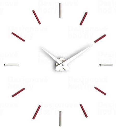 Dizajnové nástenné hodiny I200MVN red IncantesimoDesign 90-100cm