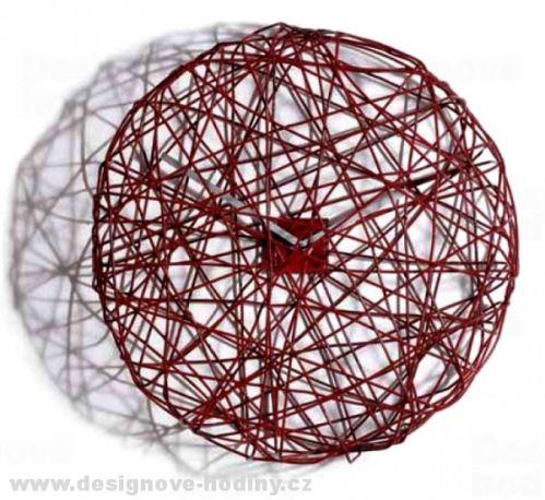 Dizajnové hodiny Diamantino & Domeniconi Ci Vediamo red 50cm