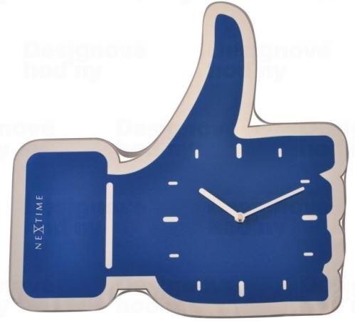 Dizajnové nástenné hodiny 3072bl Nextime Facebook Like 42cm