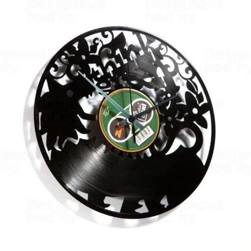 Dizajnové nástenné hodiny Discoclock 009 Think green 30cm