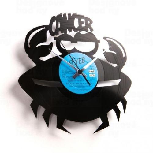 Dizajnové nástenné hodiny Discoclock Z04 Rak 30cm