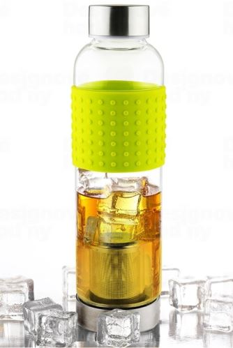 ASOBO sklenená fľaša Ice Tea & Ice Coffee IT2GO s Infuser žltá 400ml