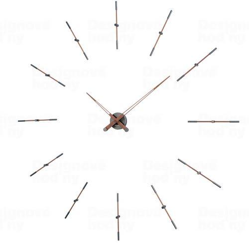 Dizajnové nástenné hodiny Nomon Merlin Walnut Graphite 125cm